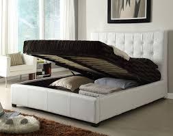 full size bed w storage white
