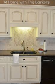 Painting Thermofoil Kitchen Cabinets Painted Kitchen Cabinets At Home With The Barkers