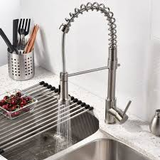 kitchen elegant brushed nickel kitchen faucet for your kitchen