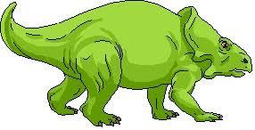 dinosaur colored green