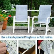 Replacement Patio Chair Slings by Replacing The Fabric On Sling Chairs House Ideas Pinterest