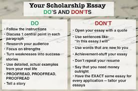 Essay How To Write A Winning Scholarship Essay In    Steps Help
