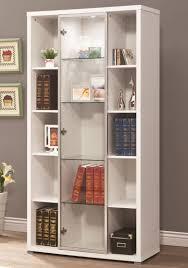 4 Shelf Bookcase White by White Bookcases With Glass Doors Arron Lane 4 Shelf Sliding Glass
