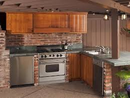 Rustic Kitchen Backsplash Kitchen Classic Brick Wall Backsplash In The Rustic Kitchen