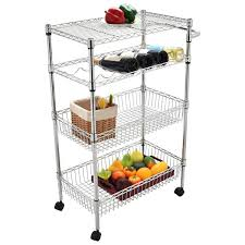 amazon com eight24hours 4 steel kitchen trolley cart island wire
