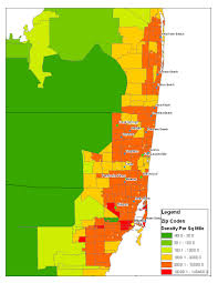 Miami Zip Codes Map by Is There A Best Way To Determine Comparative City Population