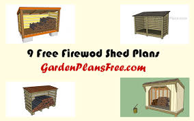 Free Firewood Shelter Plans by Storage Firewood