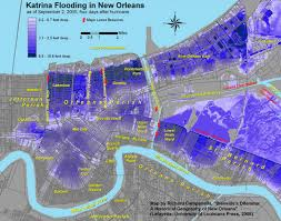 Ninth Ward New Orleans Map by Hurricane Katrina Migration Where Did People Go Where Are They