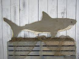 Wood Decor by Shark Wood Decor Shark Decor Beach Wall Decor Beach House