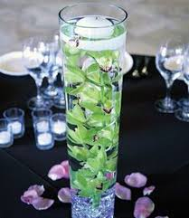 Purple Floating Candles For Centerpieces by Diy Centerpiece Ideas Fill A Tall Cylinder Vase With Water And