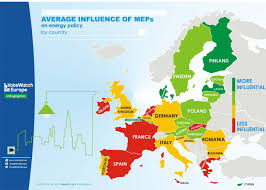 Map Policy Who Holds The Switch On Eu U0027s Energy Policy In The European