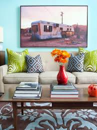 How To Decorate Walls by Design Behind The Living Room Sofa Hgtv