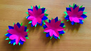 Flowers Home Decoration Three Color Paper Flowers Art And Craft Beautiful Paper Crafts