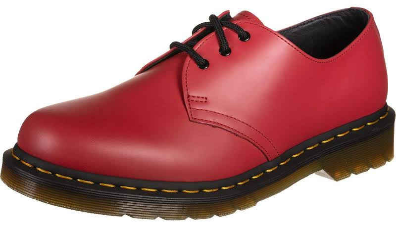 Dr. Martens 1461 Smooth Red Leather Casual Dress Oxfords Shoes