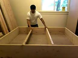 How To Build A Queen Platform Bed Frame by Building Platform Bed Frame Part 2 Of 10 Youtube