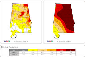 Drought Map Usa by Alabama U0027s Drought Comparing 2016 To 2007