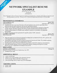 Inventory Specialist Resume Sample by Network Specialist Resume Example Resumecompanion Com Resume