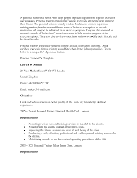 Sample Personal Trainer Resume by Entry Level Personal Trainer Resume Examples Personal Trainer