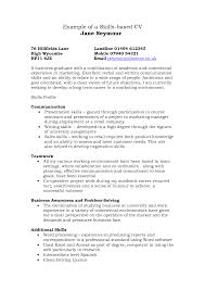 Blank Resume Examples Example Of Skills Based Resume Resume Templates