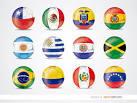 Copa America 2015 team flag balls - Free Vector