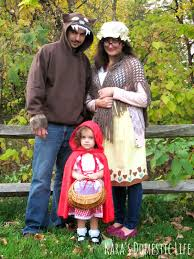 Funny Family Halloween Costumes by Little Red Riding Hood Grandma Big Bad Wolf Family Costume