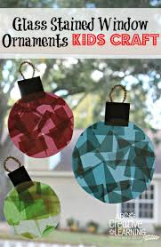 glass stained window ornaments kids craft ornament window and