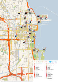 Public Transit Chicago Map by Map Of Chicago Attractions Tripomatic Com Places To Visit