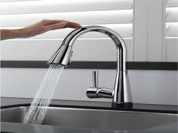 sink u0026 faucet awesome touch on kitchen faucet delta trinsic