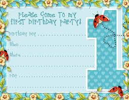 1st Year Baby Birthday Invitation Cards 12 Year Old Birthday Invitations Printable Alanarasbach Com