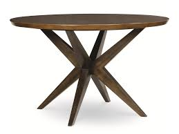 Round Wooden Table Top View Legacy Classic Kateri Round Table With Pedestal Bottom In Hazelnut
