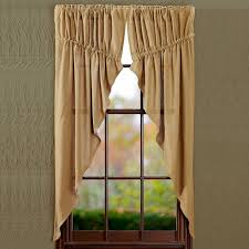 amazon com burlap natural prairie curtain window treatments set
