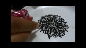 Indian Flower Design How To Make Henna Mehendi Flower Design Tutorial Step By Step For