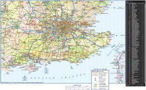 Map Of South Of France by Vector South East England Map County Political Road And Rail Map