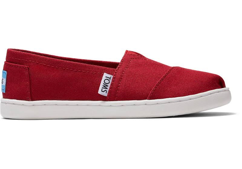 Toms Classic Canvas 2.0 Red Ankle-High Slip-On Shoes 5M