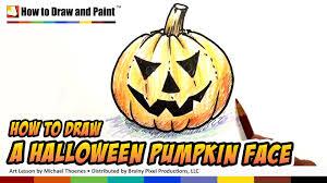how to draw a halloween pumpkin face art for kids mat youtube