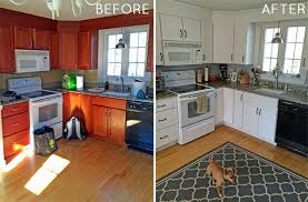 How To Paint Your Kitchen Cabinets Before  After - Can you paint your kitchen cabinets