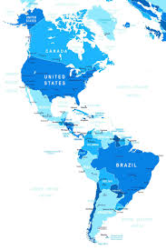 N America Map by Map Of North And South America Physical Map Of Mexico And Central