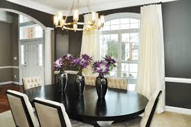 dining rooms oval black wooden contemporary fabric table soft