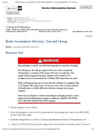 brake accumulator charging pressure valve