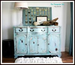 Hand Painted Furniture by The Turquoise Iris Furniture U0026 Art Vintage Buffet In China Blue