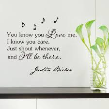inspirational quotes wall sticker you know you love me i know you inspirational quotes wall sticker you know you love me i know you care justin bieber vinyl wall art home decor decal sticker self adhesive wall stickers
