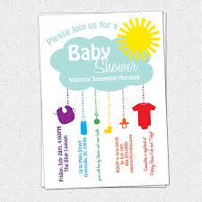 printable baby shower invitations for boys printable baby shower invitation rain cloud sunshine