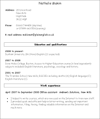A resume with no work experience  Resume Sample     happytom co