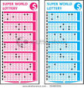Winning LOTTERY TICKETS Vector - 59480956 : Shutterstock