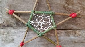 wooden pentagram pagan dreamcatcher hanging pentagram pagan