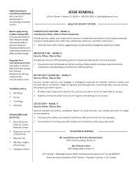 Example Of Resume Objectives by Armed Security Guard Resume Objective Experience In Security