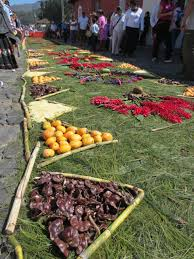 Fruit Rugs Semana Santa Holy Week In Guatemala Kiva