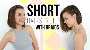 2 quick u0026 easy braids hairstyles for short hair bobs youtube