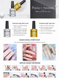 amazon com clear base coat top coat set uv led perfect match