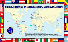 Map For United States by 2014 Marianist World Map The Marianists Marianist Province Of